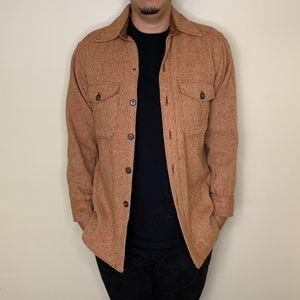 Vintage Woolrich orange/brown button down shirt M
